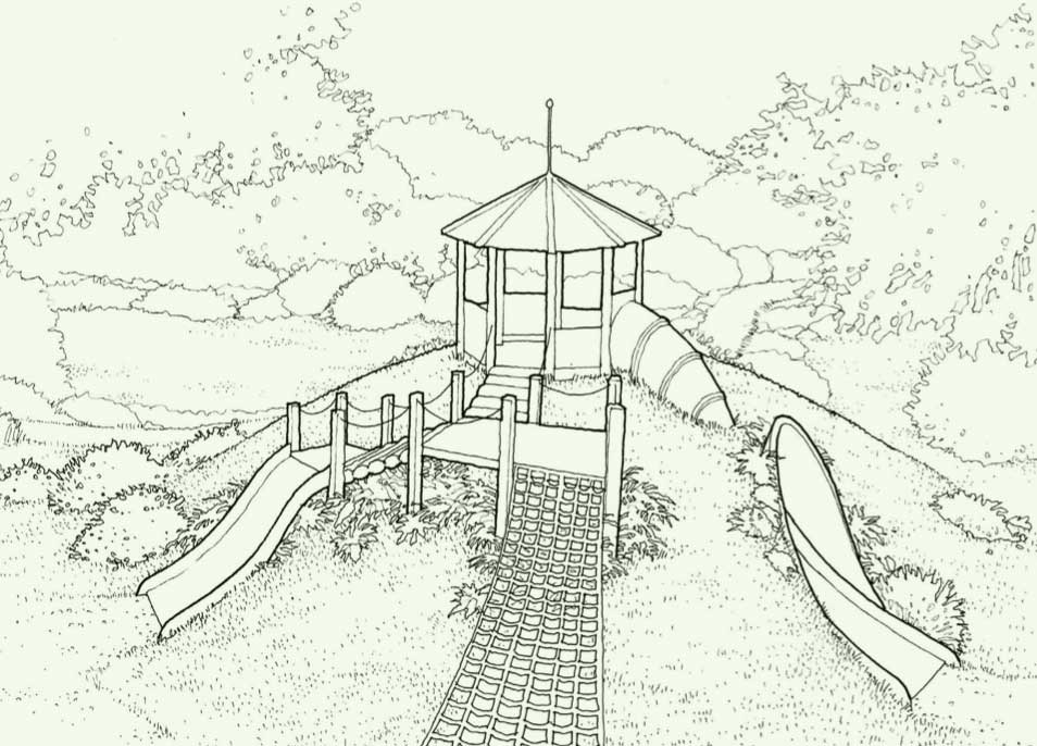 plan drawing of playground in the park
