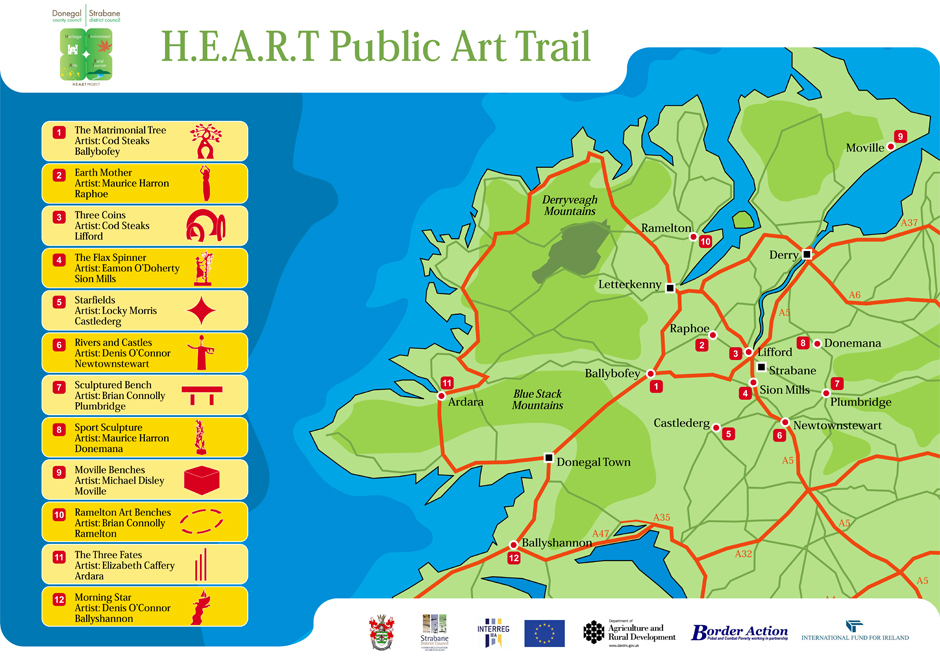 heart map of donegal